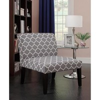 Emily Accent Chair, Grey/White Pattern - Walmart.com