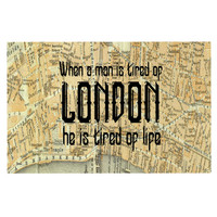 "Alison Coxon ""London Type"" Map Decorative Door Mat"