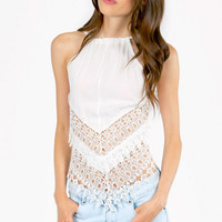 Cast Down Crochet Halter Top $24