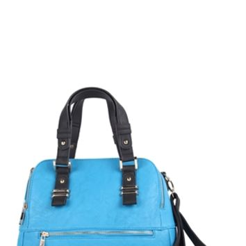Tote Bag with Double Handles and Zipper Front