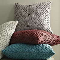Trellis Knit Pillow Cover