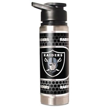 NFL Oakland Raiders 20oz Double Wall Stainless Steel Water Bottle Hot Cold