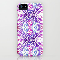 Purple Tile iPhone & iPod Case by Janet Broxon
