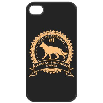 Black iPhone 4/4S Case German Shepherd Owner blkiph4gsdogowner