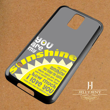 You Are My Sunshine Framed Ginny Samsung Galaxy S3 S4 S5 S6 S6 Edge Case | Galaxy Note 3 4 Case
