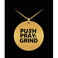 Push Pray & Grind 18K Gold Plated Chain
