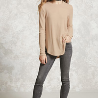 Textured Dolphin Hem Top