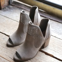 Cathy Peep Toe Boot, Taupe