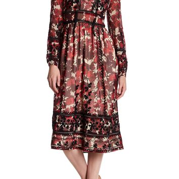 TOPSHOP | Midnight Floral Embroidered Dress | Nordstrom Rack