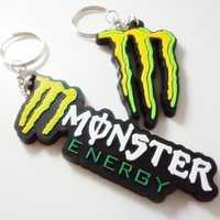2x M Set-J car bike motrocycle motocross racing keychain key fob ring