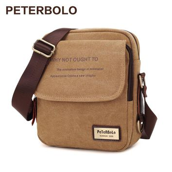 Peterbolo Vintange Canvas Shoulder Bag