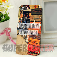 Vintage Travel Quote - iPhone 4/4s/5/5S/5C Case - iPod 4/5 - Galaxy S3i9300/S4 i9500 Case - Black or White