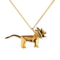 Necklace Lion Gold Silver | Origami Jewellery