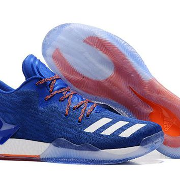 HCXX A201 Adidas D Rose 7 Low Training Actual Basketball Shoes Blue
