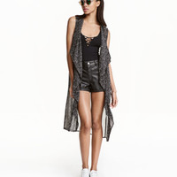 Long Chiffon Vest - from H&M