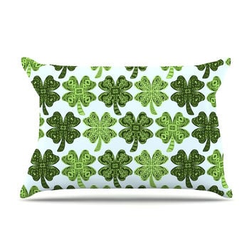 "Art Love Passion ""Lucky You"" Green Shamrock Pillow Case"