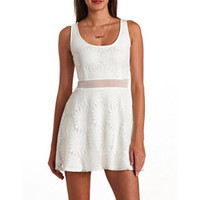 DAISY LACE CUT-OUT SKATER DRESS