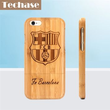 Techase Bamboo Phone Cases For Bacelona Football Club For iPhone 6