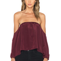 x REVOLVE Dunn Blouse in Burgundy