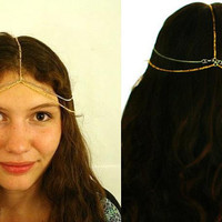 Head Piece no4 Hair Gold Silver Chain Bollywood by HaleyLouise