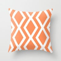 Delighted XII Throw Pillow by Rebecca Allen