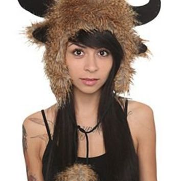 Brown Buffalo Fur Hat - 127248
