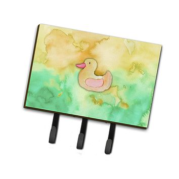 Rubber Duckie Watercolor Leash or Key Holder BB7351TH68