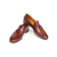 Paul Parkman Men's Tassel Loafer Brown Leather