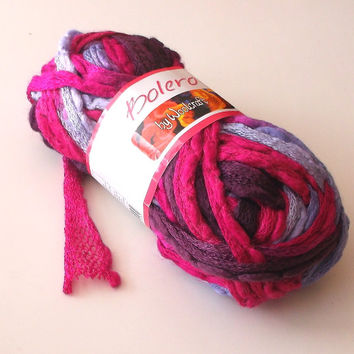 Ruffle yarn, Shades of Pink and Lilac, White-Grey-Black, with Free Instructions for Ruffle Scarf