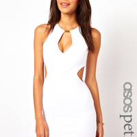 ASOS PETITE Exclusive Bodycon Dress with Cut Out Sides and Bar Detail