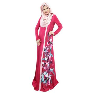 Dubai Moroccan Kaftan Women Long Dress Abaya Jilbab Islamic Arabian Clothing Dresses
