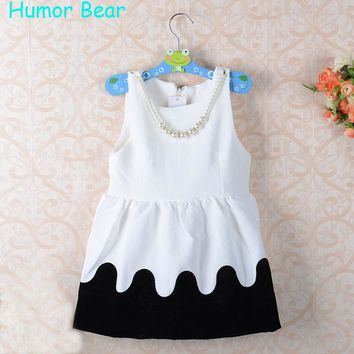 Humor Bear Girls Dresses Brand Autumn&Winter Princess Dress Kids Clothes thick Design for Baby Girls Clothes