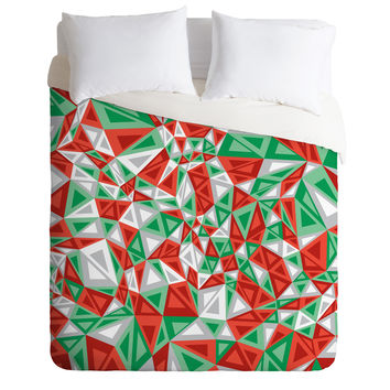Gneural Triad Illusion Yule Duvet Cover