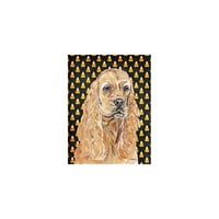 Caroline's Treasures Cocker Spaniel Halloween Candy Corn House Flag