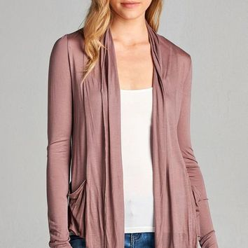 Smoky Mauve Fly Away Cardigan