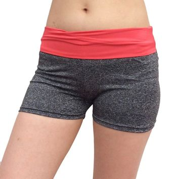 Yoga Short Pant  Calsas De Mujer Deportivas High waist and low waist dual-use  quick-drying stretch sports three-pan