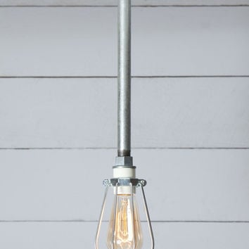 Wire Cage - Pipe Pendant Light