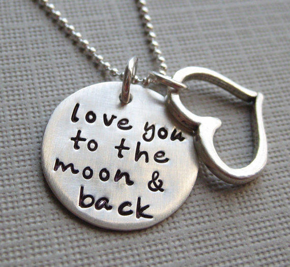 Love you to the moon and back - Sterling Silver necklace