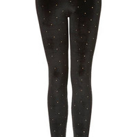 All Over Stud Velvet Leggings - Pants & Leggings  - Apparel