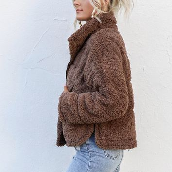 Light Kiss Mocha Teddy Bear Coat