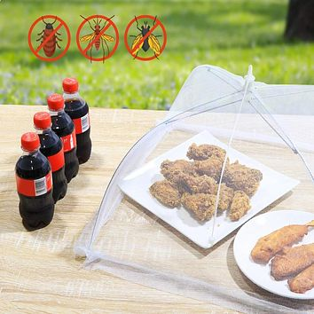 """4 Pack Food Cover Tents, Collapsible Pop-Up 17"""" Mesh Covers"""