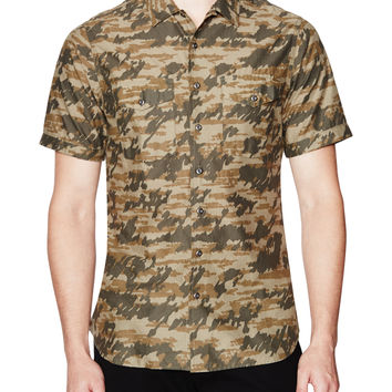 Wings + Horns Men's Tiger Spruce Camo Sportshirt -