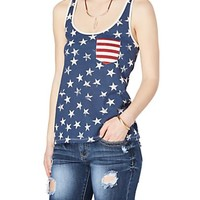Vintage American Flag Bow Back Tank