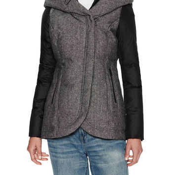 Soia & Kyo Women's Zafina Wool Hooded Jacket - Black -