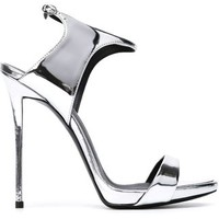 Giuseppe Zanotti Design Ankle Strap Metallic Sandals - Julian Fashion - Farfetch.com