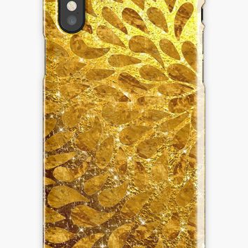 'Bright Shiny Beautiful Elegant Golden Diamond Girly Glitter Pattern ' iPhone Case by Quaintrelle