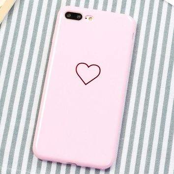 Little Love Pattern Case for iPhone X 8 7 6S Plus &Gift Box