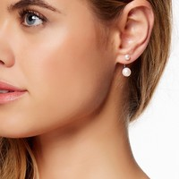 On HauteLook: | 5.5-8.5mm Double White Freshwater Pearl Curved Back Earrings