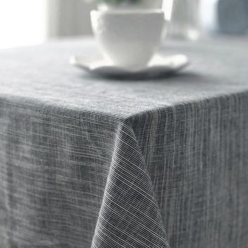 Japanese Style Plain Color Table Cloth Rectangle Round Tableclothes Cotton Linen Woven Dinner Tables Cover For Home Decoration