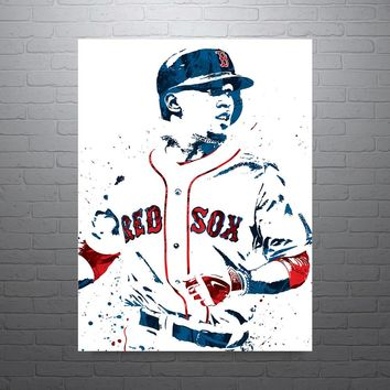 Mookie Betts Boston Red Sox Poster